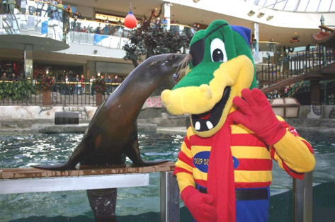 Sealion and crocodile costume